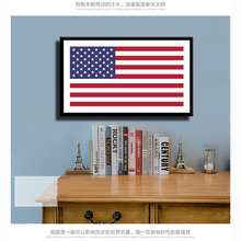American Flag Canvas Print Painting Poster Wall Art Picture For Study Room Corridor Of School Museum Home Decor No Frame LZ845(China)
