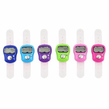 NEW 1 pcs Worldwide multicolor Stitch Marker And Row Finger Counter LCD Electronic Digital Tally Counter Free Shipping