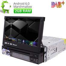 "Single 1 Din 7"" Android 6.0 GPS Flip Car Stereo Radio Player HD WIFI RAM 2GB RAM(China)"