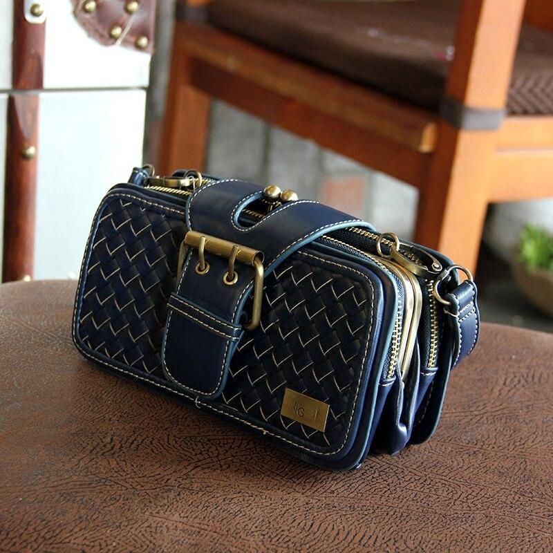 Vintage Woven Bag Handbags 2016 New Korean Version Small Package Messenger Bags Retro Handbag Shoulder Bag Diagonal Package<br><br>Aliexpress
