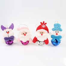 10 Units 2017 New Arrival of Santa Claus  Cute Christmas Tree Ornaments Small Christmas Bell