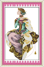 Joy sunday figure style Autumn queen printable counted cross stitch patterns Set the embroidery thread for beginer punto de cruz