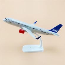 20cm Air Scandinavian SAS Airlines Airbus 320 A320 Airways Plane Model Aircraft Airplane Model w Stand Crafts Gift(China)