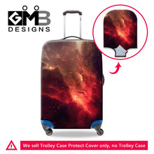 Galaxy Star Universe Waterproof Portable Luggage Protective Cover Elastic Stretch Suitcase Protect Cover For 18-30 Inch Case(China)