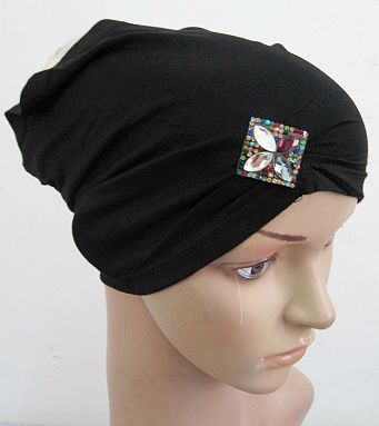 (20pieces/lot) new style 2016 cotton jersey black muslim tube caps islamic underscarf assorted colors xm0990