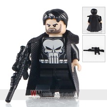 Building Blocks Single Sale PG249 Punisher With Weapon Marvel Super Hero The Avengers Kids DIY Toys PG8063 Drop Shipping