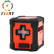 2017 Portable mini Cross Laser Levels Meter 2 line Horizontal and Vertical Red Beam Laser Line nivel laser level ferramentas(China)