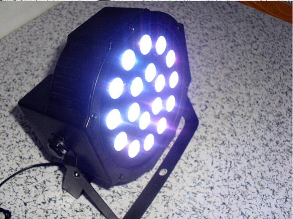 LED SlimPar 18x4W 3/7 Channels RGB 3IN1 LED DJ Wash Light Stage Uplighting No Noise<br>