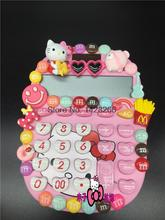 Hello Kitty or Doraemon solar calculator is stuck drill set auger m beans Hello Kitty crystal gem computer(China)