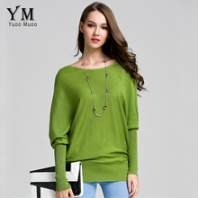 YuooMuoo Women Sweater 2016 Autumn Loose Knit Sweater Fashion Pullover Elegant Ladies Jumpers Batwing Sleeve Women Tops Sweater