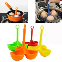 Silicone 3 Egg Holder Boiler Cooking Egg Boiler Egg Cooker Holder Poacher Dipper Drop shipping6.23/35%