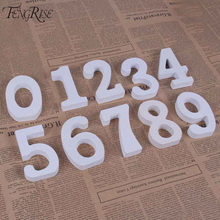 FENGRISE Wooden Number Letters White Wood Alphabet Wedding Table Numbers Decoration Kids Birthday Party Favors Home Supplies