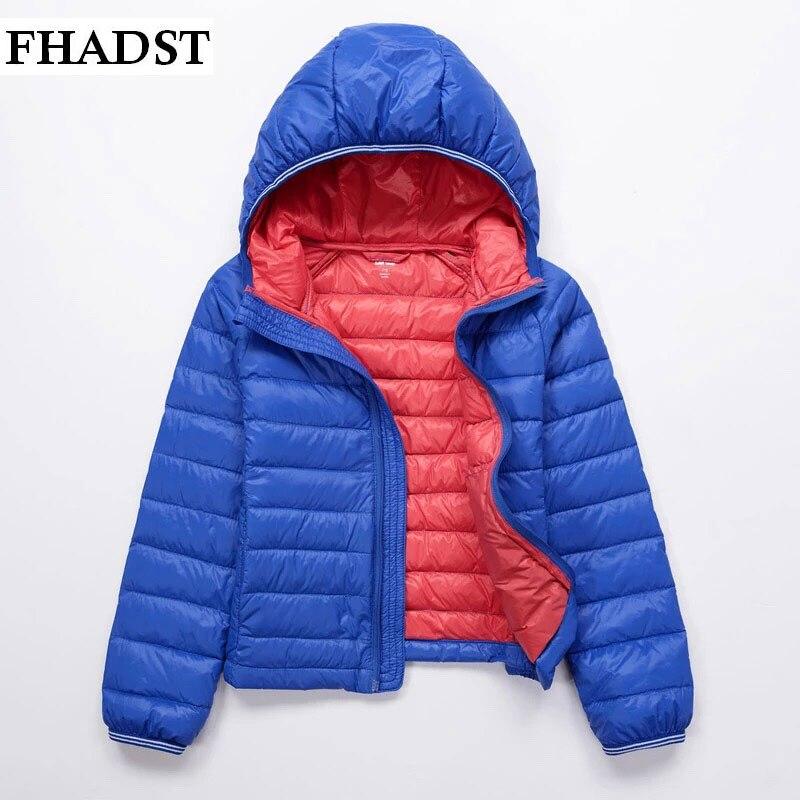 FHADSTewest Fashion Baby Clothes Kids Girls And Boys Winter Pink Red Jacket Solid Down Parkas Zipper Hooded Children OuterwearÎäåæäà è àêñåññóàðû<br><br>