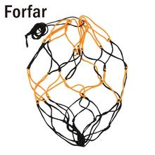Forfar Nylon Net Bag Ball Carry Mesh Volleyball Basketball Football Champion Outdoor Multi Sport Game Black&Yellow Free shipping
