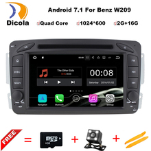 2Din Steering Wheel For Mercedes/Benz/W209/203 Car DVD Player Android 7.11 Quad Core FM GPS Navigation Radio RDS WIFI Stereo 3G