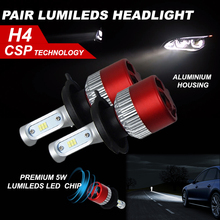LED H4 COB LED Headlight Automobiles Light Bulbs For Cars Car-Styling H4 Led Bulb Auto Head Lamp Running Lights For Cars
