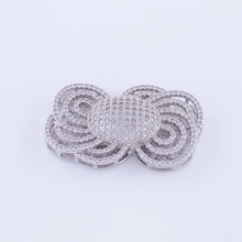 DIY Handmade Pearl Necklace Beaded Jewellery Accessories Rhinestone Flower Pendant Connectors for Jewelry Making Components