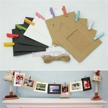 Creative Photo Frame DIY Wall Hanging Paper Photo Frame Wall Picture Album Frame Wholesale 10Pcs(China)