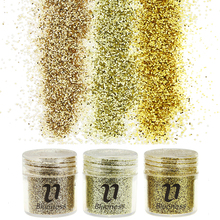 3 Bottle/Set Gold Sequin Dust Gem Nail Glitter Decorations Acrylic UV Glitter Powder 3D Nail Art BG061-063