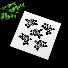 DIY Rose Drawing Layering Painting Template Stamps For DIY Scrapbooking Photo Album Cards Decorative Embossing Crafts