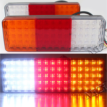 MZORANGE 2pcs 12V 75 LED Truck Tail Light Lamp Stop Trailer Light For caravan Trailers Tail Lights Quality Asssured Car styling(China)