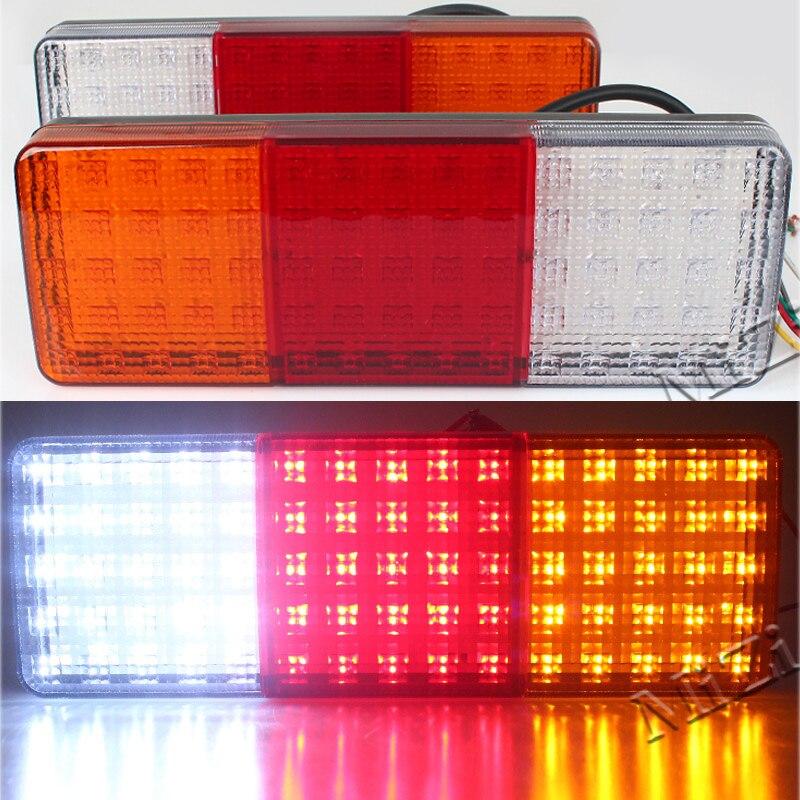 MZORANGE 2pcs 12V 75 LED Truck Tail Light Lamp Stop Trailer Light For caravan Trailers Tail Lights Quality Asssured Car styling<br>