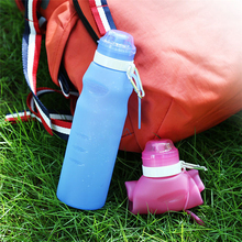 Buy TTLIFE 600ML Portable Foldable Leakproof Water Bottle Outdoor Sport Travel Silicone Folding Gym Water Bottle Camping Kettle for $6.97 in AliExpress store
