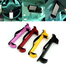 New Universal Car Steering Wheel Plastic Cradle Holder Smart Clip Car Mount Bracket for GPS Mobile Phone Cellphone Stand