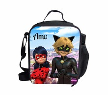 FORUDESIGNS Lancheira Thermo Lunch Bags Miraculous Ladybug Cooler Insulated Lunch Bags Women Kids Thermal Food Bolsa termica(China)
