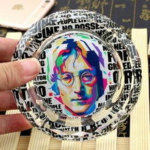 John Lennon The Beatles Creative Smoking Gift For Fans Boyfriend Celebrity Souvenirs Collectibles Crystal Ashtray(China)