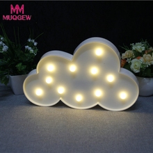 Decorative Party LED Cute Children's Bedroom Cloud Night Light Christmas Party Decor DIY home decoration accessories lights(China)