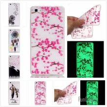 Hot! Fashion Fluorescence TPU Slim Printing Phone Cases For Huawei Ascend P8 Lite P8 mini Luminous Soft Silicon Phone Cover Case