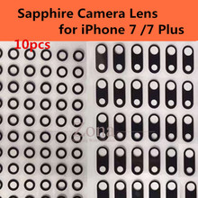 "10pcs Original Camera Single Glass Lens for iPhone 7/ 7 Plus;Sapphire Crystal Single Glass Without Frame for iPhone 7 4.7""/5.5"""