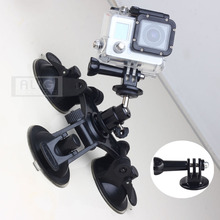 Accessories Car Windshield Sucker Mount Holder Base Set for Gopro Hero 4 Hero 3 SJCAM SJ4000 SJ5000 Wifi Mini Camcorder