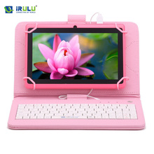 "iRULU Tablet eXpro X1 7"" 1024*600 HD Allwinner A33 Google Android 4.4 Tablet Quad Core 8GB Dual Camera WIFI with EN Keyboard"