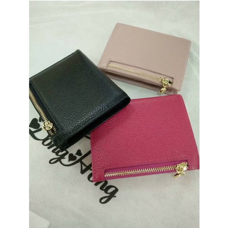 DongHong lady purse small size cow leather wallet genuine women coin bag zip purses three colors<br><br>Aliexpress