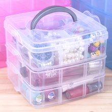 Clear Plastic 3 Layer Jewelry Display Organizer Storage Box Jewelry Beads Holder Ring Earring Box Bracelet Case Jewelry Display