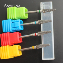 "ASWEINA 2017 1Pcs High Quality 3/32"" Carbide Nail Drill Bit 4 Size To Choice Nail Accessory Electric Manicure Machine Nail Bit(China)"