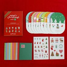 1pcs 3D Pop Up Handmade Christmas Card Happy New Year Greeting Card C166