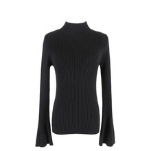 Sweater For Women Autumn Winter Korean Style High Collar Speaker Sleeve Warm Pullovers Sweater Thick Slim Lady's Sweater