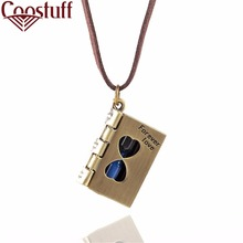 2017 Choker Necklace Women vintage jewelry necklaces & pendants cotton collares forever love book pendant statement necklace Men(China)