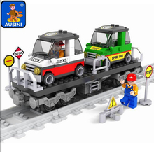 Model building kits compatible with lego train rails trafic 600 3D blocks Educational model building toys hobbies for children(China)