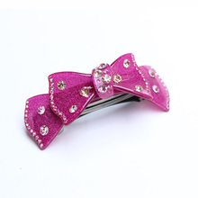New Luxury Hair Jewelry for short hair Acylic with Rhinestone Hair Accessories Retail for Women Hair Clips Gift Free Shipping(China)