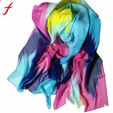 2017 Woman Silk Scarf Printing Hijab Women's Scarves Fashion Chiffon Soft Scarf Shawl Wraps Muffler Bufanda Mujer(China)