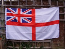Royal Navy British Union Jack Large White Naval Ensign Military Ships Craft High Quality Flag 3x5FT Custom flag Drop Shipping