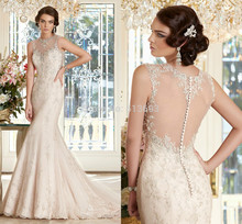 2016 New SpecialLatest Designer Bridal Gown Sleeveless with Lace Appliques Organza Mermaid Wedding Dresses Vestido De Noiva