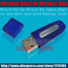 Miracle key for Miracle box update dongle for china mobile phones Unlock+Repairing unlock first  shipping