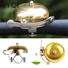 EYCI 1 PC Retro Metal Bike Ring Bicycle MTB Cycling Mechanical Bell Sound Warming Loud Gold High Quality