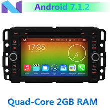 4G Wifi Quad Core CPU 2GB RAM Android 7.1.2 Car DVD GPS Radio Player for GMC Yukon Acadia Savana Tahoe Savana Chevrolet Traverse