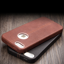 2016 QIALINO New Arrival phone case for iPhone 5 for iPhone5s Luxury Genuine Cow leather case for iPhone SE Unique back cover(China)